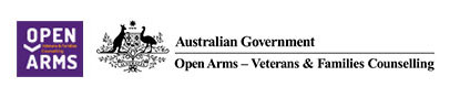 Open Arms veterans and families counselling logo