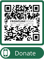 QR code Donate to Frontline Yoga
